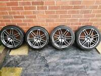 4x Audi TT MK2 18inch Alloys 8J and Nearly New Tyres