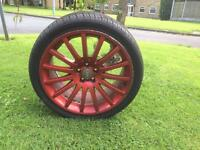 Audi TT red alloys and tyres