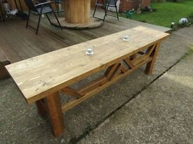 hand crafted rustic coffee table - NEW