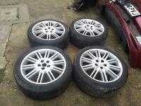 set of jaguar s type wheel 18 inch triton alloy wheels good tyres 245/40/r18