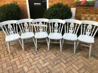 Pine kitchen chairs x6