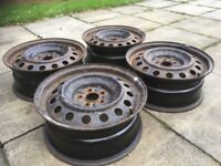 """4 steel wheels from Toyota Avensis 16"""""""