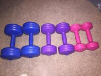 York dumbbell weights. 3 sets.