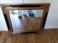 Ornate bevelled edge mirror