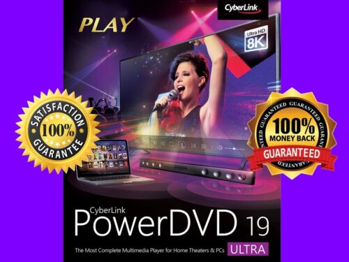 CyberLink PowerDVD Ultra 19 PRE-ACTIVATED ✅ FULL VERSION 🔑🔑🔑 GENUINE 100% ✅
