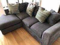 Corner Sofa - Left Hand, Grey Fabric