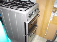 free standing 50cm used gas cooker with glass fronted oven door