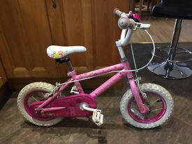 Girls Princess bike (12 inch) with Stabilizers.