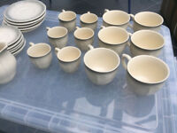 Pottery tea and coffee set in good condition