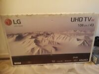 lg 43 inch 4k smart uhd brand new still in box