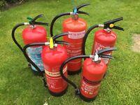 Job lots of fire extinguishers