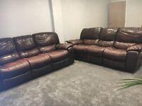 Harvey's 2x Chocolate brown three-seater sofa's