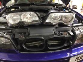 E46 Xenon Projector Headlights Angel Eyes