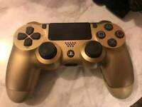 Gold ps4 controller