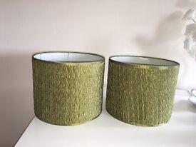 Green lamp shades