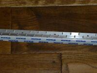 never used stikatak silver carpet edge 120cm length