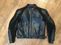 Dainese two piece black motorcycle leathers - Excellent condition