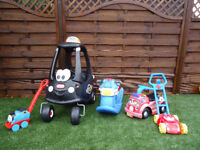 OUTDOOR TOY BUNDLE RIDE ON CAR, BOAT, TRAIN, LAWNMOWER FIRE ENGINE CAN DELIVER
