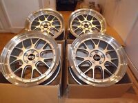 "VW T5 19"" ALLOY WHEELS TO FIT VW T5 TRANSPORTER 5X120 BBS LM-R STYLE SET OF 4 ALLOYS"