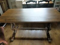 Old Charm Oak Refectory Table