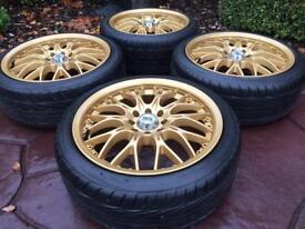 "16"" BK Racing MK1 MK2 VW Golf GTi Polo Mini Refurbished Alloy Wheels & tyres"