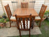 Barley Twist Extending Table and 4 Chairs