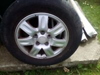 15ins alloys and tyres 2 new tyres and 2 Very good condition
