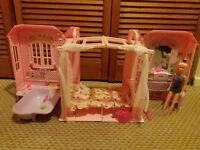 Doll house with Barbie