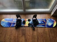 Snowboard and Boots for sale cheap
