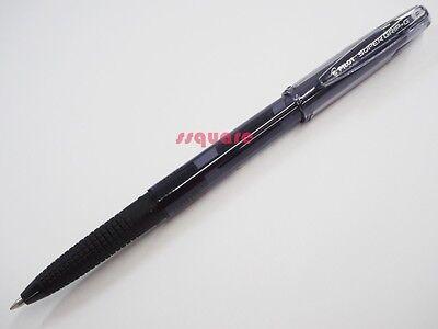 6 X Pilot Super Grip G Bps-gg 0.7mm Fine Ballpoint Pen W Cap Black