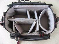 "LARGE ""FOUNDATION"" CAMERA BAG WITH MANY COMPARTMENTS/DIVIDERS 45cms x 27cms x 20cms £5"