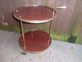 Round Hostess Trolley With Brass Handle Delivery available £8
