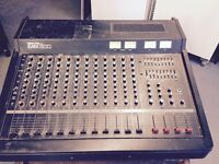 YAMAHA EMX 12 CHANNEL MIXING DESK. (WITH FLIGHT CASE)
