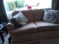 2 medium 3 seater sofas, in good condition