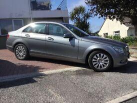 Mercedes C200 cdi A blue efficiency silver 4 door saloon.