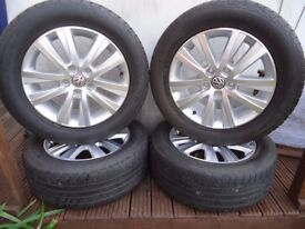 4 x 17 /55/235 GENUINE V W alloy wheels and commercial treys V W T 5- T 6