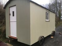 Shepherds Hut 14'X7' Built of traditional construction by hand in South Devon