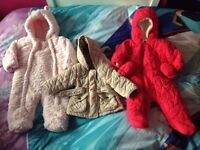 Girls 3-6 month snowsuit/coat bundle NEXT & George