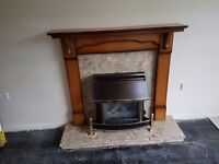 Wooden fire piece surround with optional marble surround