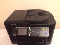 Epson - WorkForce WF-3640 Wireless All-In-One Printer Copier Scanner Fax Machine
