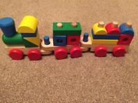 Melissa and Doug wooden train set
