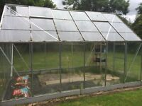 Aluminium Green House with Vostek toughened glass. installed in 2008. Dismantle and collect please.