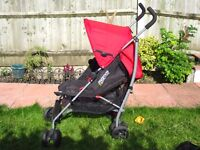 Mamas and Papas Swirl Pushchair pram umbrella stroller - Red