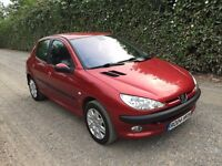 PEUGEOT 206 1.4 DIESEL 2004 1 YEAR MOT £30 YEAR TAX **OUTSTANDING CONDITION CHEAP CAR**