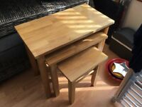 Nest of tables and coffee table for sale