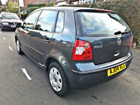 2004 vw polo 1.2 petrol. 5dr. low mileage with full service history. a/c