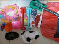 Beach, water, holiday, Inflatables, bucket, spades, forks, balls – bargain bundle