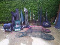 Fishing rods pole equipment job lot