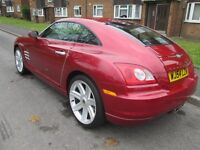 CHRYSLER CROSSFIRE WITH LOW LOW MILEAGE 33K FROM NEW, LOWER TAX BAND