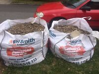 2 very large bags of stones, need to be washed as came strait from the garden
